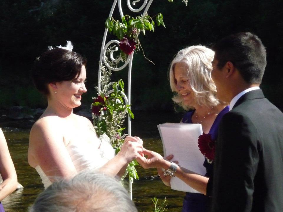 Katherine & Dou & me ring exchange